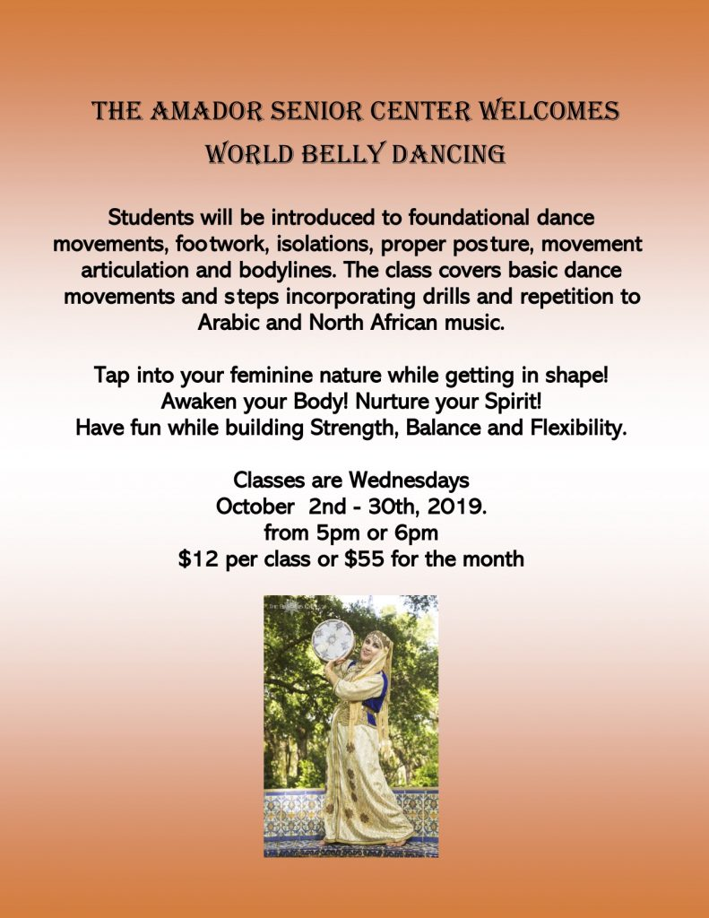 World Belly Dancing Flyer