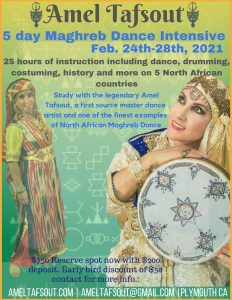 5-day Maghreb Dance Intensive Workshop - Feb 24-28, 2021 @ Studio Afra