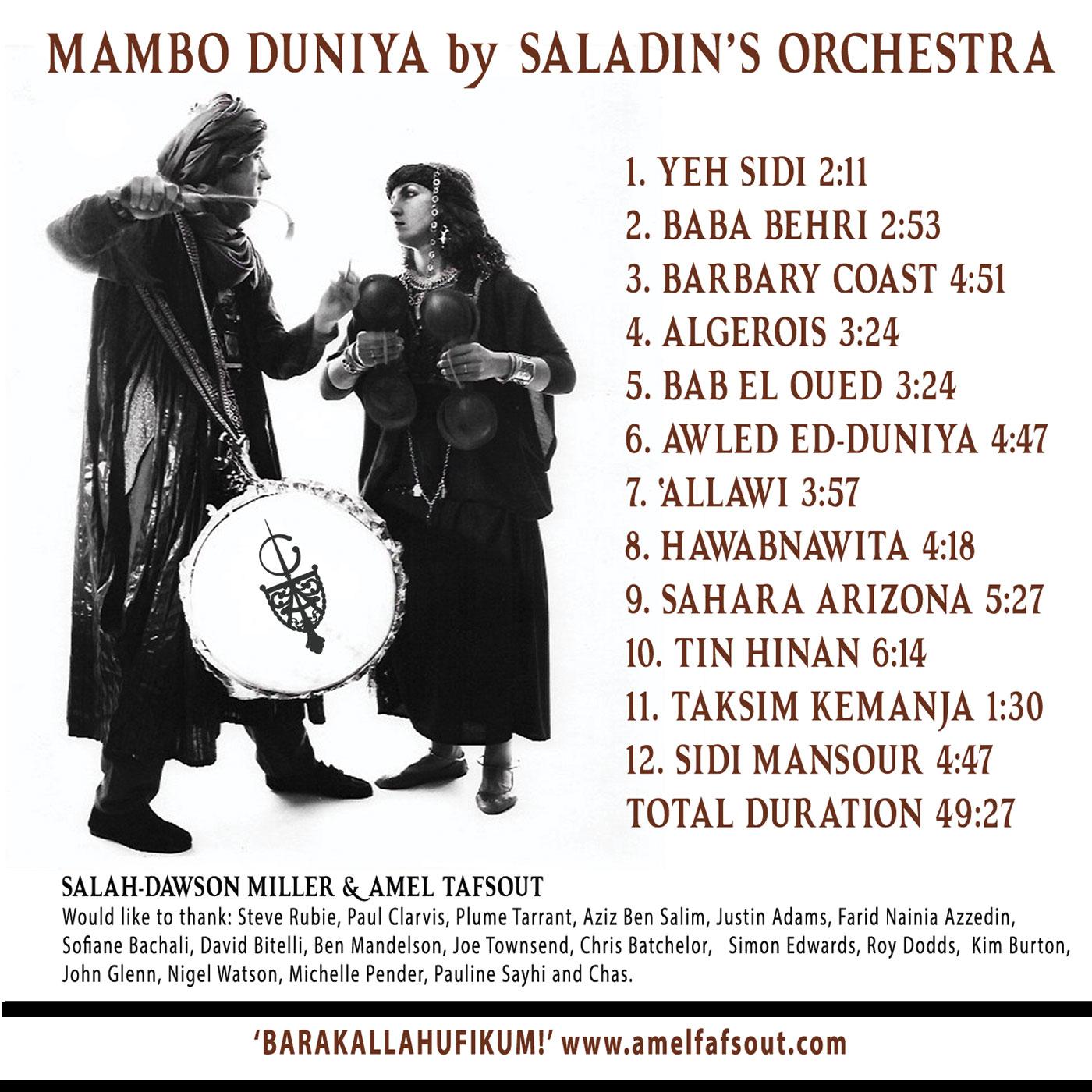 Mambo Duniya - Back Cover