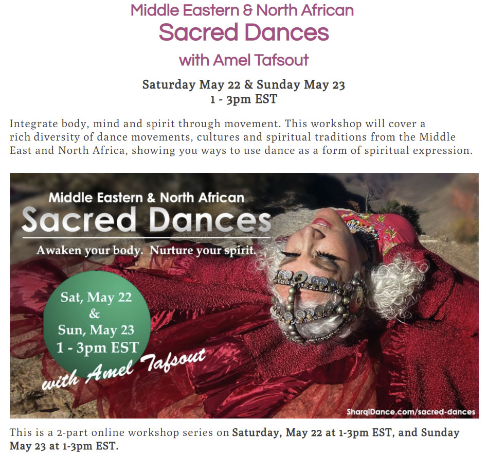 Sufi Sacred Workshop - May 22nd & 23rd @ Online Workshop series