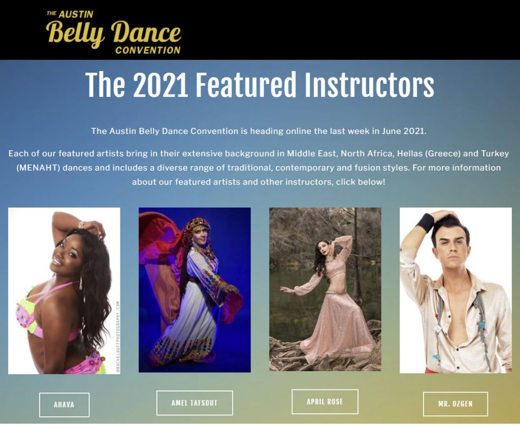 belly dance convention featured instructor