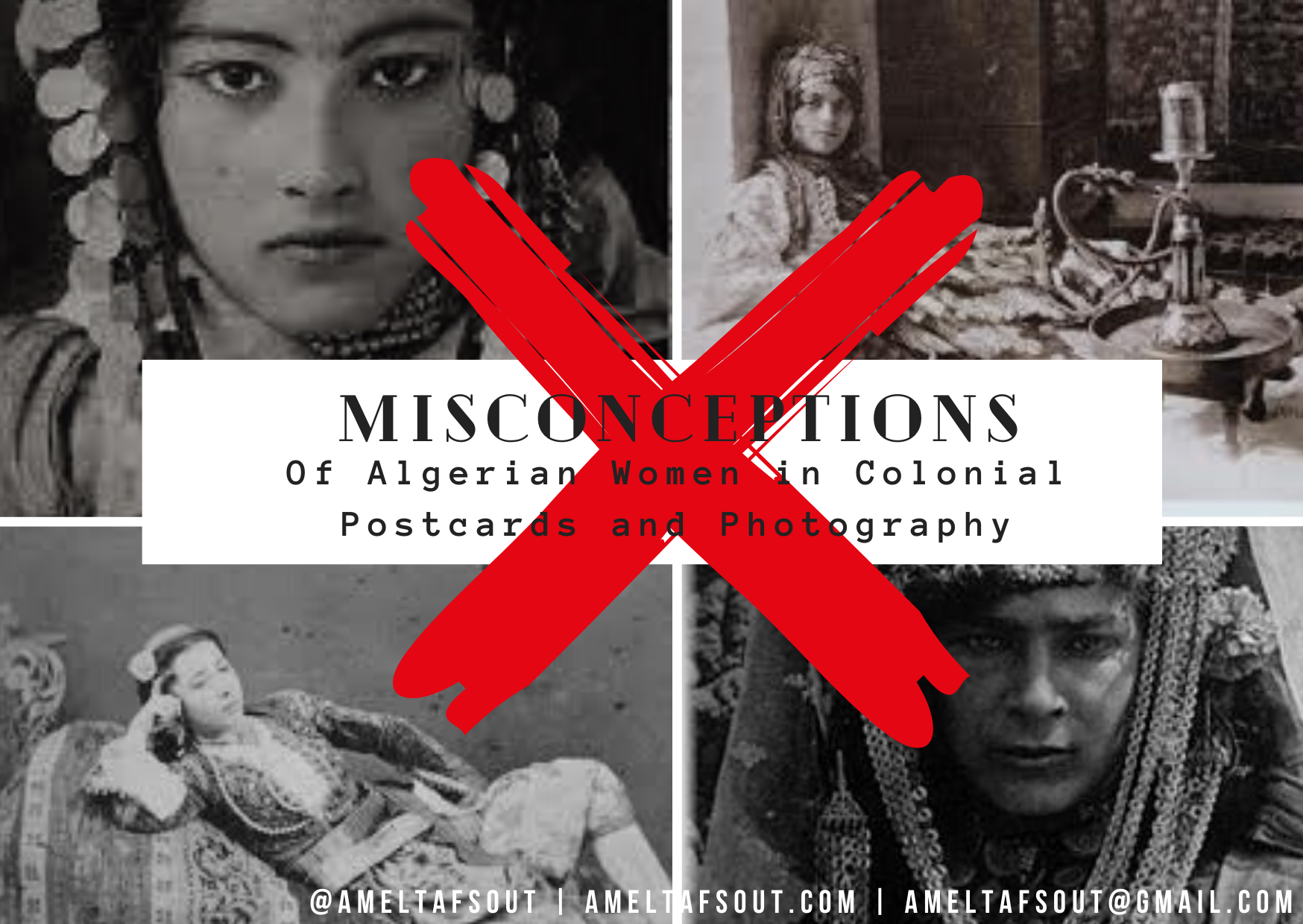 Black and White Photo Flyer for Misconceptions